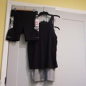Bike shorts and tops